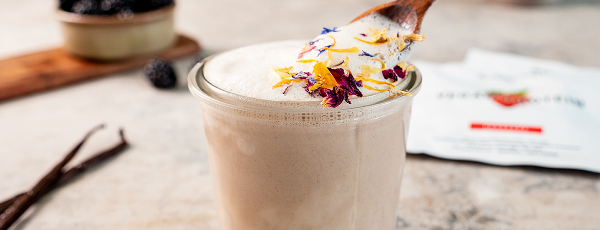 Protein Rose Latte