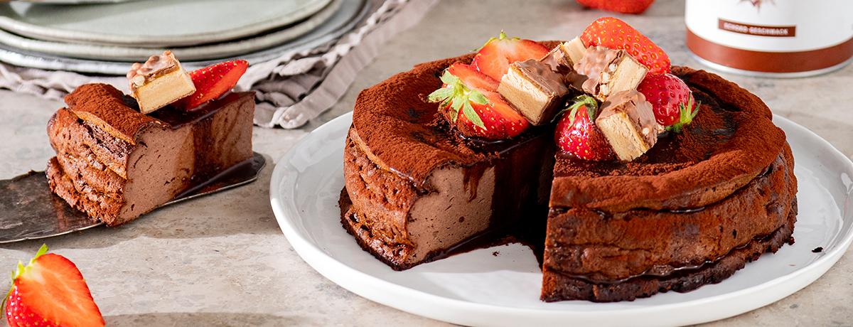 Cheesecake protéiné au chocolat
