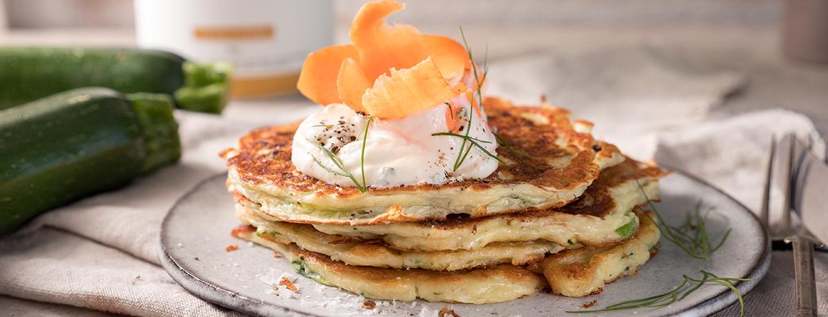 Pancakes à la courgette