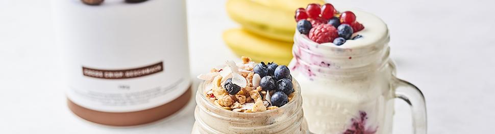 Protein-Shakes mit Früchten