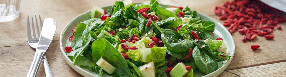 Salade composée aux baies de goji