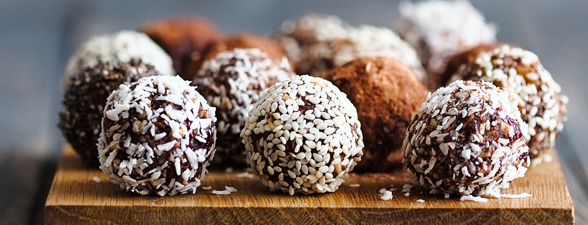 Palline proteiche al cioccolato