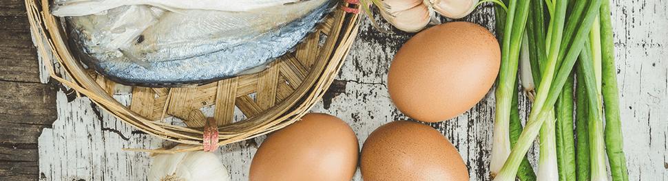 Pescado y huevos