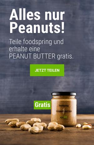 foodspring empfehlen und gratis Produkt sichern