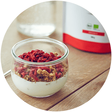 Goji berries with muesli