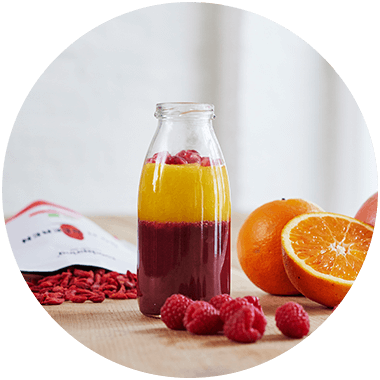 Smoothie with Goji berries