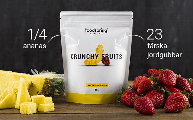 Innehåll i Crunchy Fruits