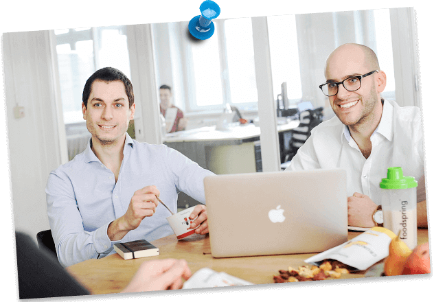 Tobias Schüle och Philipp Schrempp på foodspring