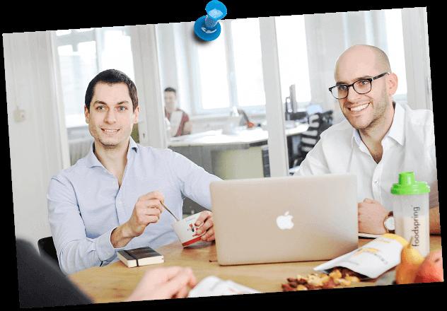 Tobias Schüle e Philipp Schrempp di foodspring