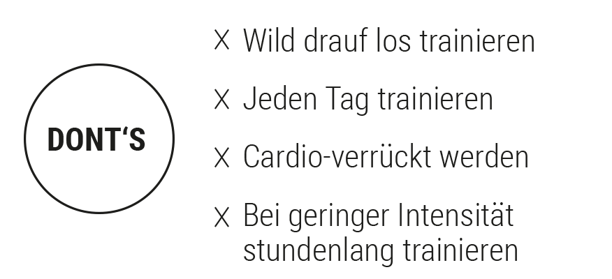 Dont's beim Training