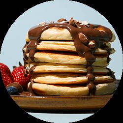 Pancakes à la crème protéinée