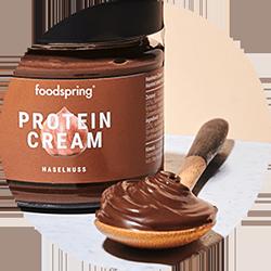 Cuillère de crème protéinée