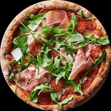 Pizza Protéinée jambon de Parme et roquette