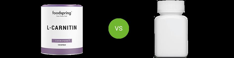 L-Carnitin im Vergleich zum Konkurrenzprodukt
