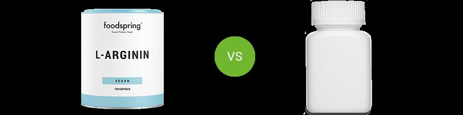 L-Arginine vs. competitor product