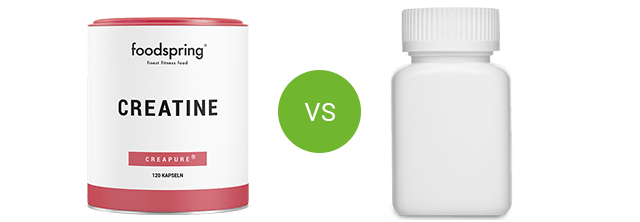 Creatine by foodspring vs. competitor product