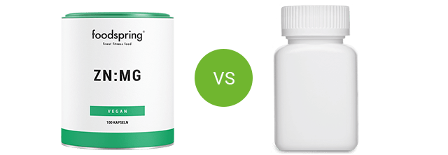 foodspring Zn:Mg vs. competitor product