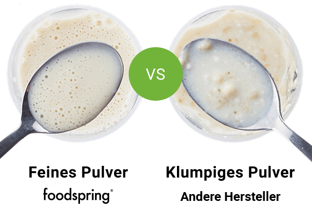 Feines Pulver vs. klumpiges Pulver