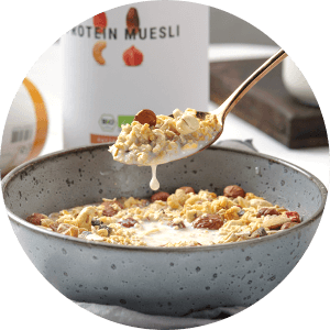 Protein Muesli with your favourite milk type.