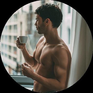 Man with mug