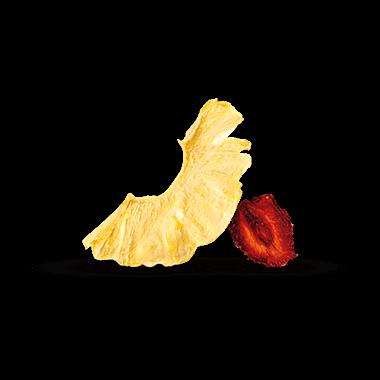 Fraises et ananas séchés