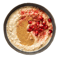 Porridge à la pomme, aux fruits rouges, à la vanille et au chocolat