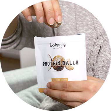 Protein Balls und Packaging