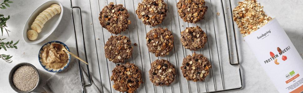 Recipe: Protein muesli peanut cookie