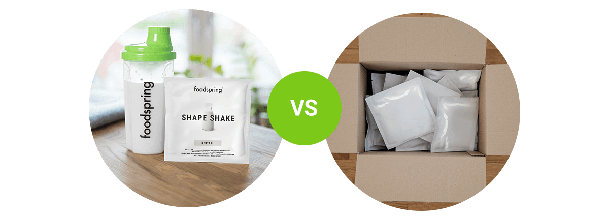 Shape Shake im Vergleich zu anderen Herstellern.