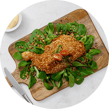 Protein Crispy Chicken with Protein Flakes.